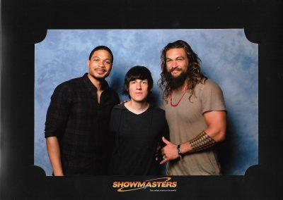 Ray Fisher y Jason Momoa (Cyborg y Aquaman de la Liga de la Justicia)